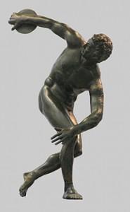 Roman bronze reduction of Myron's Discobolos, 2nd century CE.