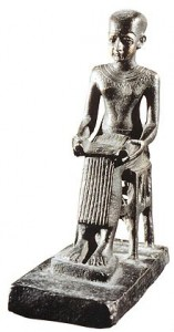 Statuette of Imhotep in the Louvre