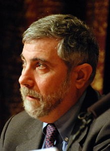 Paul Krugman, Laureate of the Sveriges Riksbank Prize in Economic Sciences in Memory of Alfred Nobel 2008 at a press conference at the Swedish Academy of Science in Stockholm. Author Prolineserver (talk)